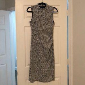 Form fitting knee length dress